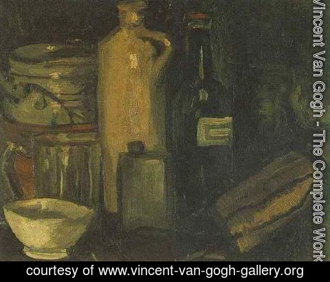 Vincent Van Gogh - Still Life With Pots Jar And Bottles