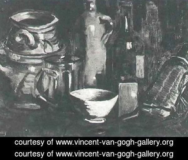 Vincent Van Gogh - Still Life With Pottery Beer Glass And Bottle