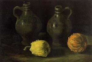 Vincent Van Gogh - Still Life With Two Jars And Two Pumpkins