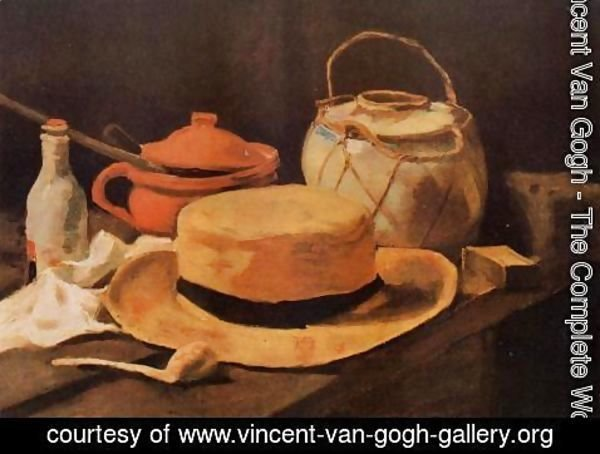 Vincent Van Gogh - Still Life With Yellow Straw Hat
