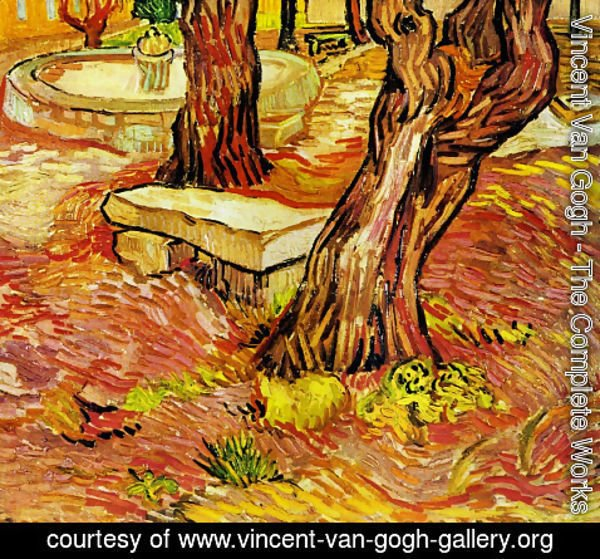 Vincent Van Gogh - The Stone Bench In The Garden Of Saint Paul Hospital