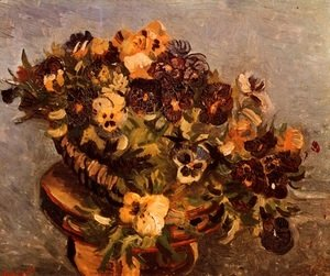 Vincent Van Gogh - Tambourine With Pansies