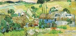 Vincent Van Gogh - Thatched Cottages By A Hill