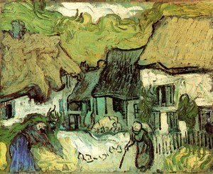 Vincent Van Gogh - Thatched Cottages In Jorgus