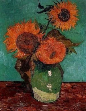 Vincent Van Gogh - Three Sunflowers In A Vase