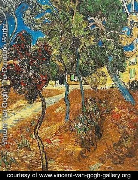 Vincent Van Gogh - Trees In The Garden Of Saint Paul Hospital IV
