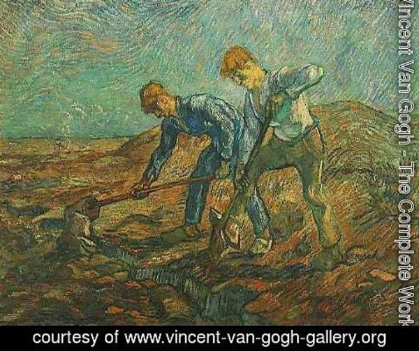 Vincent Van Gogh - Two Peasants Digging