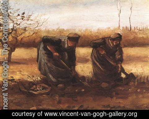 Vincent Van Gogh - Two Peasant Women Digging Potatoes
