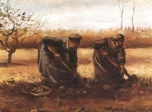 Two Peasant Women Digging Potatoes