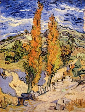 Vincent Van Gogh - Two Poplars On A Road Through The Hills