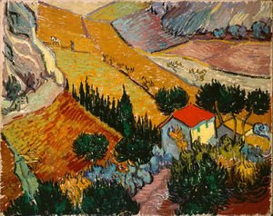 Vincent Van Gogh - Valley With Ploughman Seen From Above
