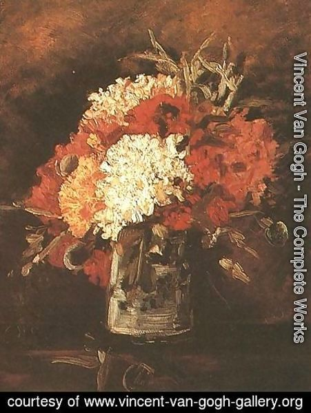 Vincent Van Gogh - Vase With Carnations II