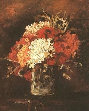 Vase With Carnations II