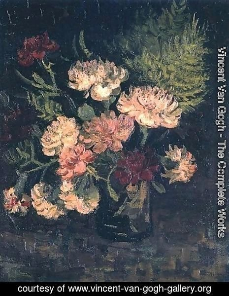 Vincent Van Gogh - Vase With Carnations III