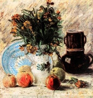Vincent Van Gogh - Vase With Flowers Coffeepot And Fruit