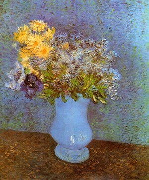 Vincent Van Gogh - Vase With Lilacs Daisies And Anemones