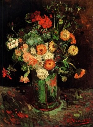 Vincent Van Gogh - Vase With Zinnias And Geraniums