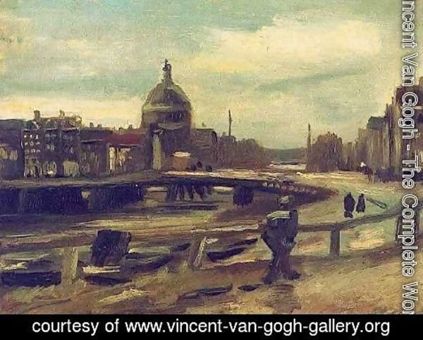 Vincent Van Gogh - View Of Amsterdam From Central Station