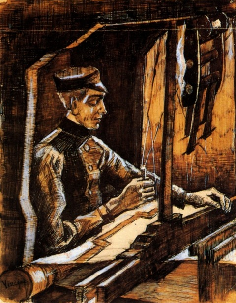 Vincent Van Gogh - Weaver Facing Right (Half Figure)