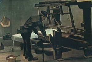 Vincent Van Gogh - Weaver Standing In Front Of A Loom