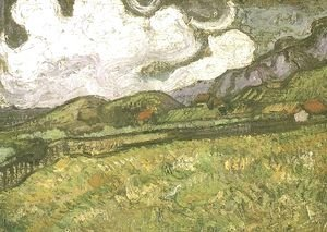 Vincent Van Gogh - Wheat Field Behind Saint Paul Hospital