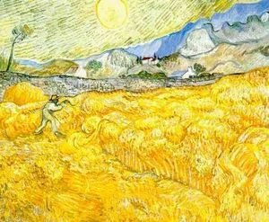 Vincent Van Gogh - Wheat Field Behind Saint Paul Hospital With A Reaper