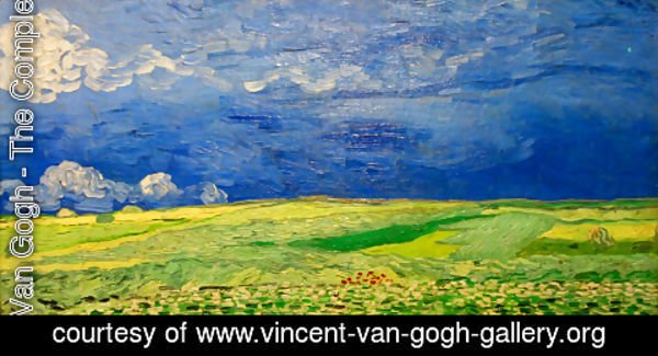 Vincent Van Gogh The Complete Works Wheat Field Under