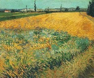 Vincent Van Gogh - Wheat Field With The Alpilles Foothills In The Background