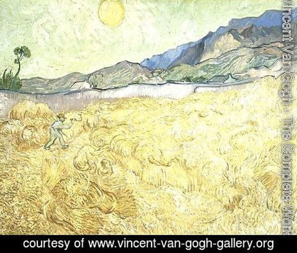 Vincent Van Gogh - Wheat Fields With Reaper At Sunrise