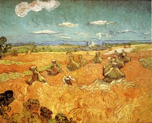 Vincent Van Gogh - Wheat Stacks With Reaper
