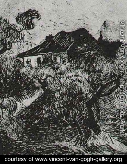 Vincent Van Gogh - The White Cottage Among The Olive Trees