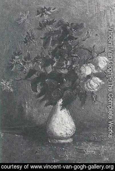 Vincent Van Gogh - White Vase With Roses And Other Flowers