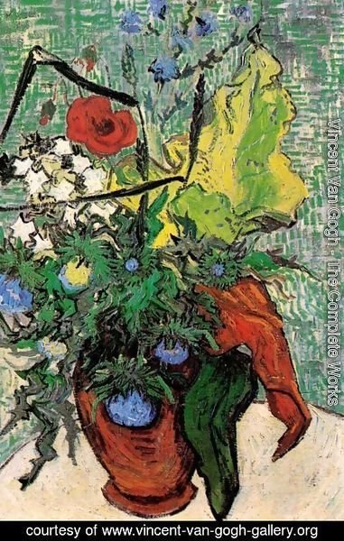 Vincent Van Gogh - Wild Flowers And Thistles In A Vase