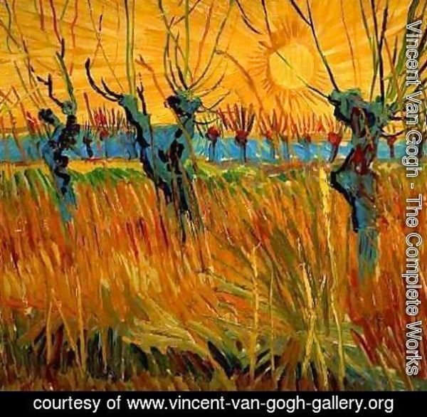 Vincent Van Gogh - Willows At Sunset