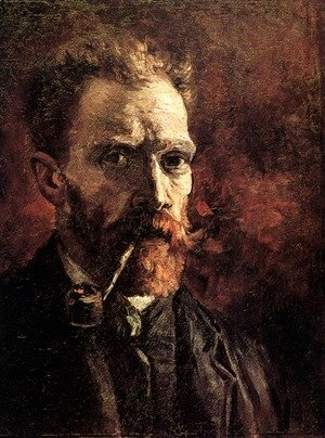 Vincent Van Gogh - Self Portrait With Pipe