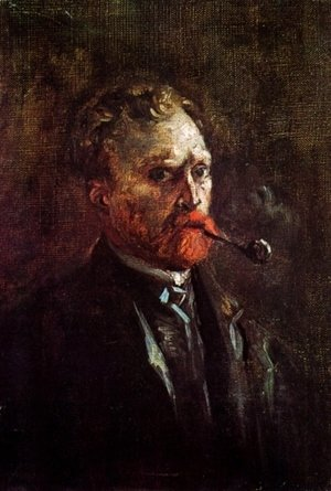 Vincent Van Gogh - Self Portrait With Pipe II