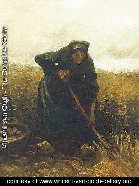Vincent Van Gogh - Woman Lifting Potatoes