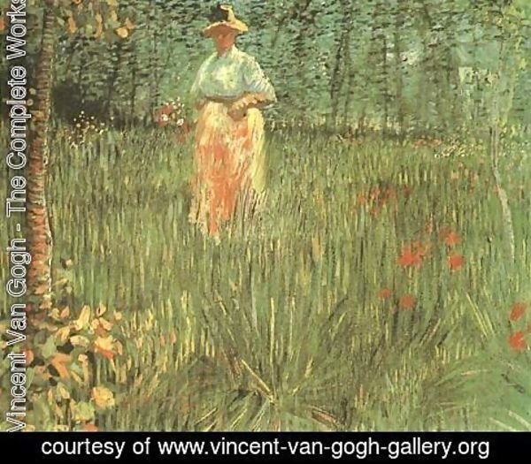 Vincent Van Gogh - Woman Walking In A Garden A