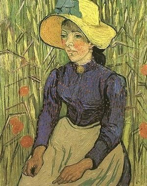 Vincent Van Gogh - The Young Peasant Woman With Straw Hat Sitting In
