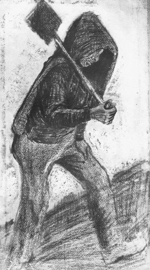 Vincent Van Gogh - Miner Carrying a Shovel