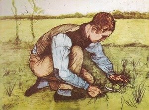 Vincent Van Gogh - Young Boy Cutting Grass