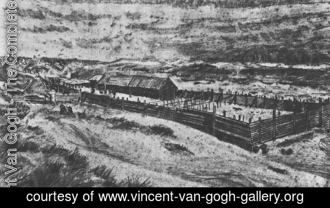 Vincent Van Gogh - Village of Loosduinen Seen from a Dune